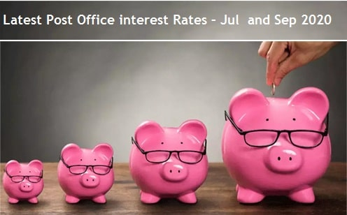Latest Post Office interest Rates – Jul, Aug and Sep 2020