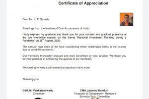 ICMA letter - Suresh KP - Myinvestmentideas.com