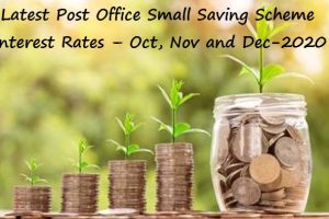 Latest Post Office Small Saving Scheme interest Rates - Oct Nov and Dec-2020