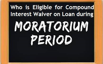 Am I eligible for Compound Interest Waiver on Loan during the moratorium period?