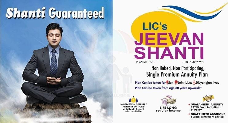 LIC New Jeevan Shanti (Pension Plan No 858) – Features, Benefits and Negative Factors