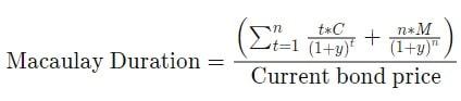 Macaulay duration Formula