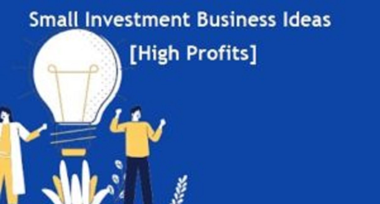 15+ Small Investment Business Ideas [High Profits]