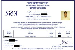Suresh Kumar Podishetti (Suresh KP) - NISM Investment Adviser - Level-1 Certificate