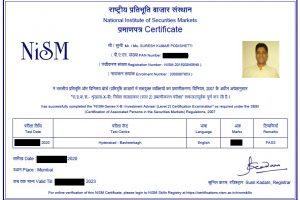 Suresh Kumar Podishetti (Suresh KP) - NISM Investment Adviser - Level-2 Certificate