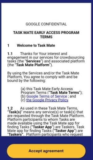 Google Task Mate App - Earn money online - Accept T&C - Step-6