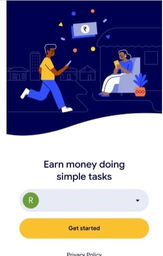 Google Task Mate App - Earn money online - Registration page