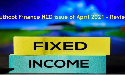 Muthoot Finance NCD issue - April-2021 - Review