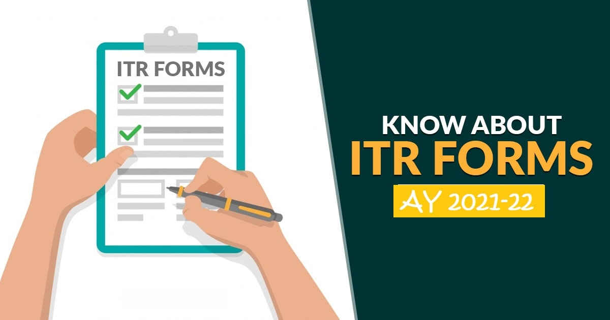 Which ITR Forms should be used for 2020-21 (Assessment Year 2021-22)?